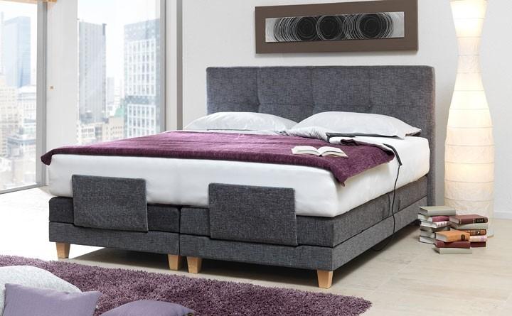 Ella łóżko Materace Stelaże Regulowane Tkanina