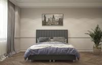 ATLANTA - Łóżko z wysokim eleganckim wezgłowiem w nowoczesnym stylu