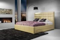 Suita A - tapicerowane łóżko (eko skóra)