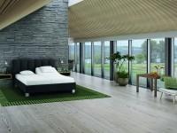 Melodia - tapicerowane łóżko (skóra naturalna)