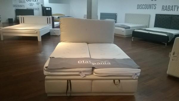 Łóżko Becik z pojemnikiem na pościel 160x210 Tkanina PORTO 01