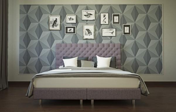 AUSTIN - Tapicerowane łóżko o nowoczesnym wyglądzie