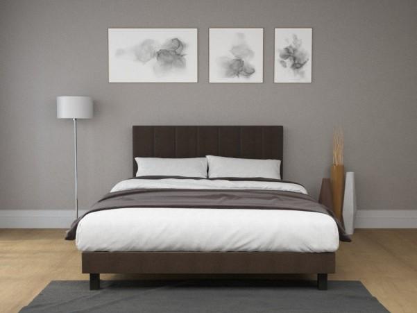 SEATTLE - Eleganckie tapicerowane łóżko z charakterystycznym wezgłowiem