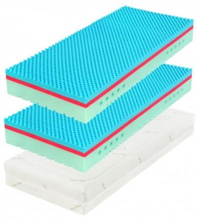 TAU SOFT II 20 cm (Wellness) 1+1 - materac z pianki z efektem pamięciowym