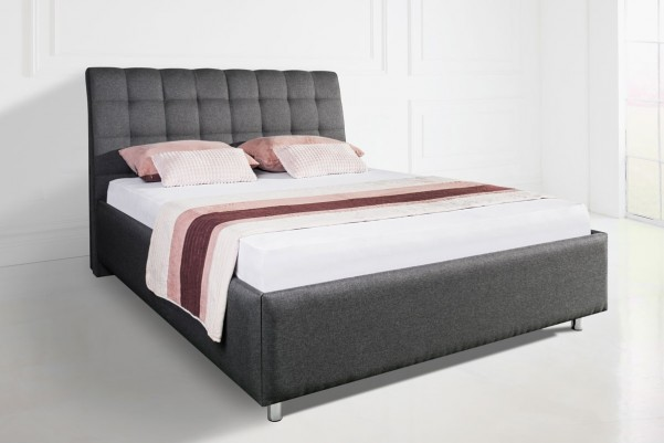ENZIO NASHVILLE - ponadczasowe tapicerowane łóżko do każdej sypialni