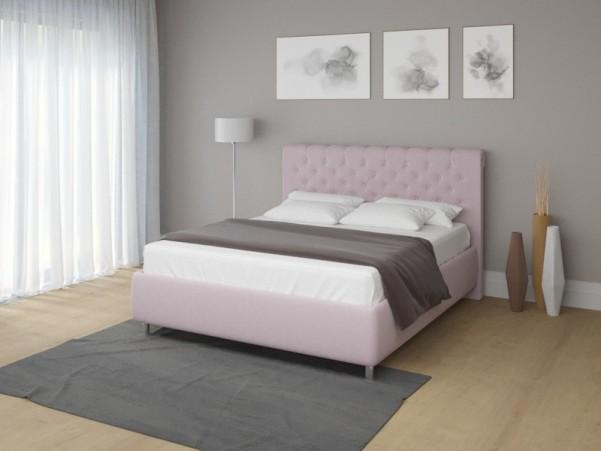 ENZIO ORLANDO - eleganckie tapicerowane łóżko z dominującym wezgłowiem
