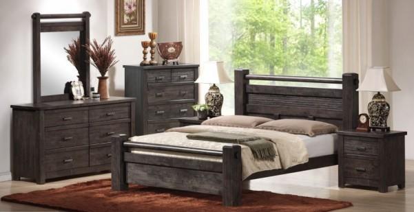 Drewniane łóżko ze stelażem Biru 1