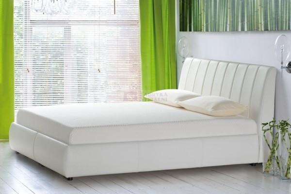 Etiuda - tapicerowane łóżko (skóra naturalna) !PO EKSPOZYCJI! 160 x 200 cm