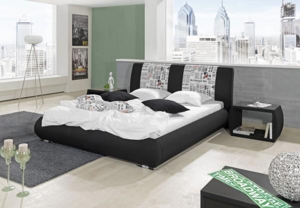 Broadway - tapicerowane łóżko (eko skóra)