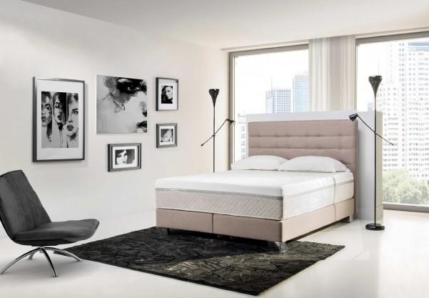Łóżko Sealy Box Skóra naturalna wezgłowie 110cm